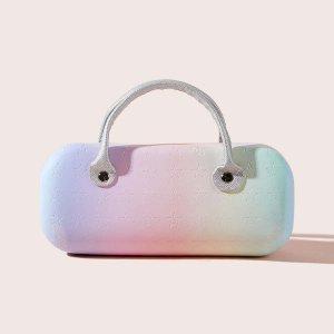 Радужный футляр для очков SHEIN. Цвет: цвет хамелеон