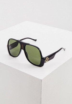 Очки солнцезащитные Gucci GG0785S. Цвет: черный