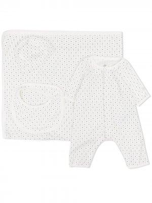 Подарочный набор для новорожденного с принтом Starry Petit Bateau. Цвет: белый