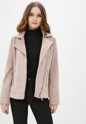 Куртка кожаная Wallis. Цвет: розовый
