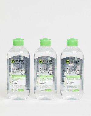 Мицеллярная вода 400 мл для комбинированной кожи (3 шт.) Garnier