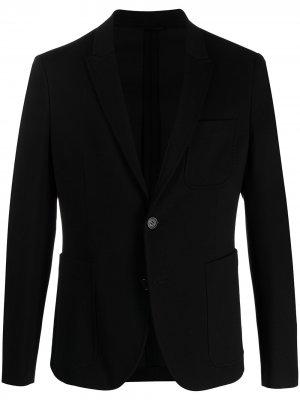 Креповый пиджак строгого кроя Neil Barrett. Цвет: черный