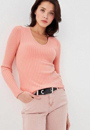 Пуловер MaryTes. Цвет: коралловый