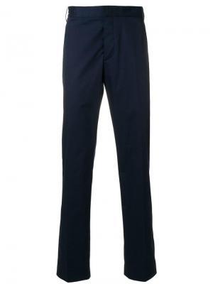 Классические строгие брюки Lanvin. Цвет: синий