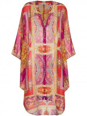 Платье-кафтан Ponza Etro. Цвет: розовый