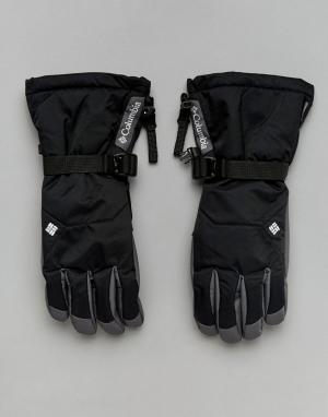 Черные непромокаемые горнолыжные перчатки Whirlibird Columbia. Цвет: черный