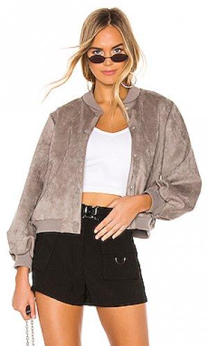 Пиджак на пуговицах emily superdown. Цвет: серый