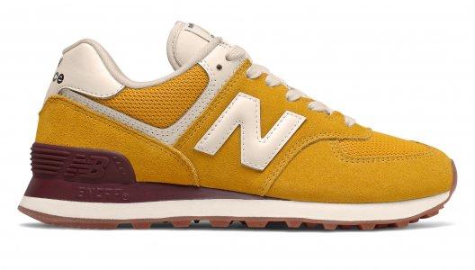 Кроссовки Classic Running New Balance. Цвет: желтый