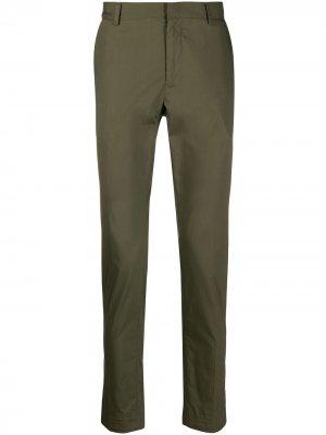Строгие брюки кроя слим Daniele Alessandrini. Цвет: зеленый