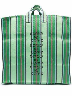 Сумка-тоут с логотипом 10 CORSO COMO. Цвет: зеленый