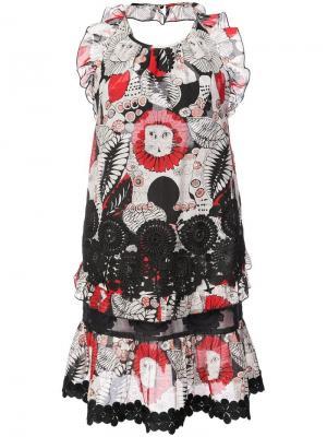 Платье с вырезом-халтер Love Leo Anna Sui. Цвет: черный