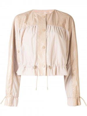 Куртка бомбер с геометричными вставками Drome. Цвет: нейтральные цвета
