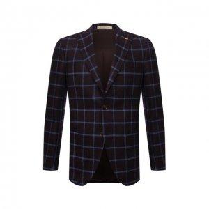 Шерстяной пиджак Sartoria Latorre. Цвет: коричневый
