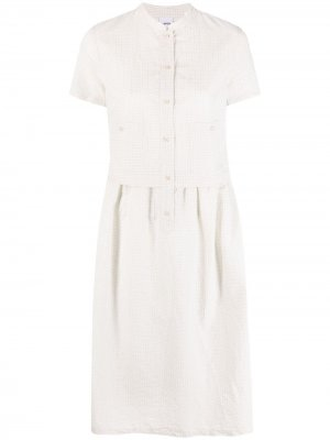 Платье-рубашка миди в клетку Aspesi. Цвет: нейтральные цвета