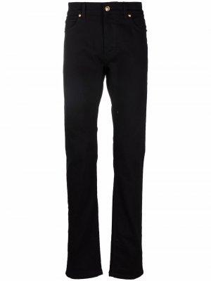 Прямые джинсы с логотипом Medusa Versace. Цвет: черный