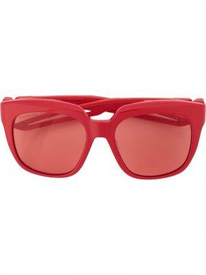 Солнцезащитные очки оверсайз Balenciaga Eyewear. Цвет: красный