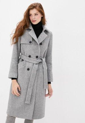 Пальто Снежная Королева ZRW1CO04. Цвет: серый