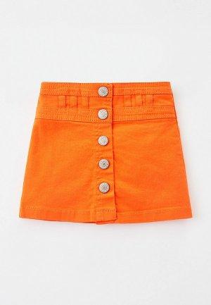 Юбка джинсовая Koton. Цвет: оранжевый