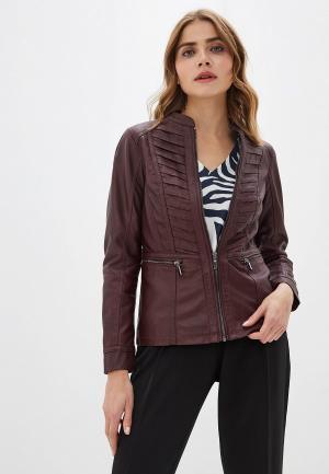 Куртка кожаная Wallis. Цвет: бордовый