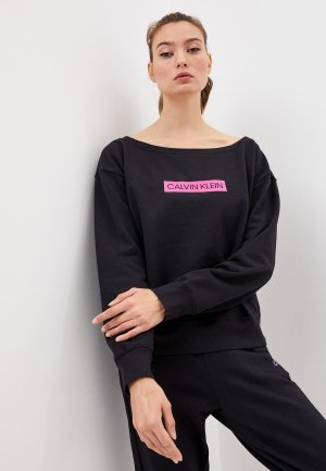 Свитшот Calvin Klein Performance. Цвет: черный