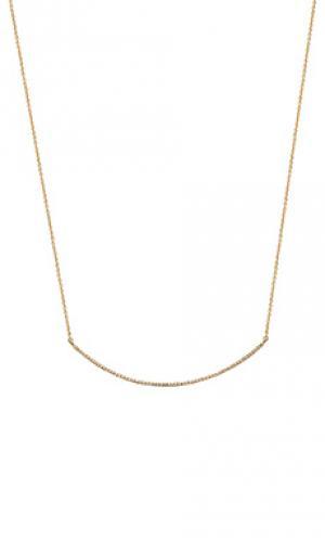 Цепочка с изогнутым подвесом Sachi. Цвет: металлический золотой