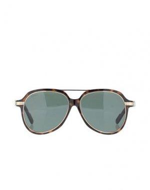 Солнечные очки CARTIER. Цвет: темно-коричневый