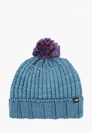 Шапка The North Face COZY CHUNKY BEANIE. Цвет: голубой