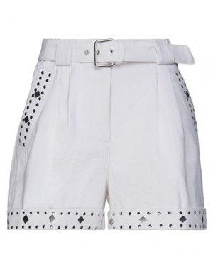 Джинсовые шорты TWINSET. Цвет: белый