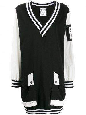 Короткое платье-бомбер Moschino