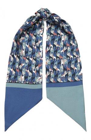 Шелковый шарф-бандо Regina Delle Ande Loro Piana. Цвет: синий