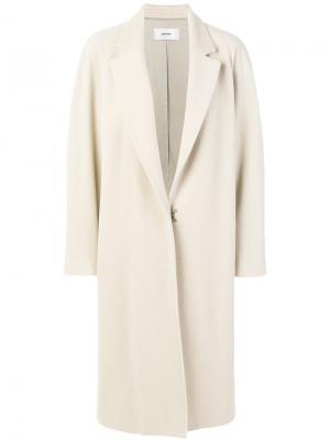 Пальто прямого кроя Mauro Grifoni. Цвет: белый