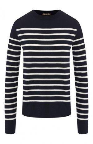 Кашемировый пуловер Loro Piana. Цвет: синий