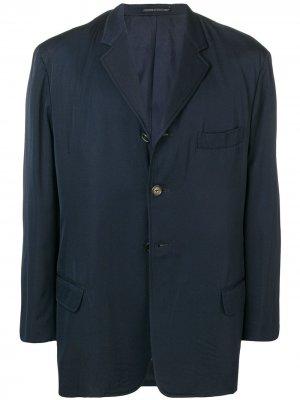 Блейзер 1990-х годов Yohji Yamamoto Pre-Owned. Цвет: синий