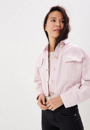 Куртка джинсовая River Island. Цвет: розовый