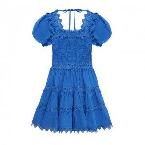 Хлопковое платье Charo Ruiz Ibiza. Цвет: синий