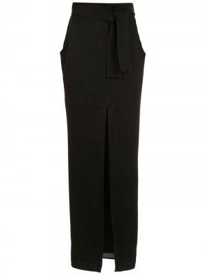 Удлиненная юбка с разрезом спереди Gloria Coelho. Цвет: черный