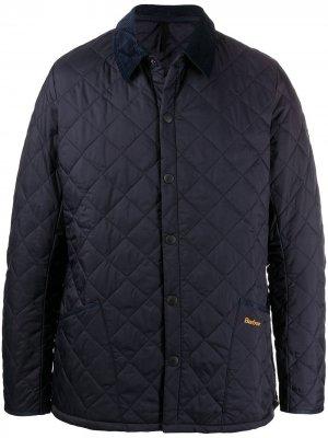 Стеганая куртка Heritage Liddesdale Barbour. Цвет: синий