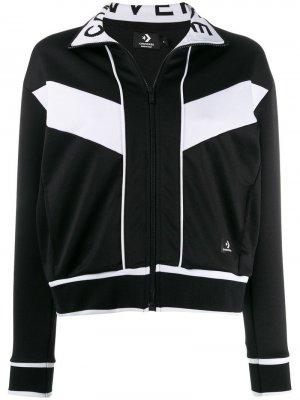 Куртка с контрастной отделкой Converse. Цвет: черный