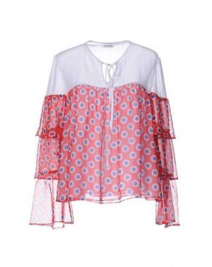 Блузка AU JOUR LE. Цвет: красный