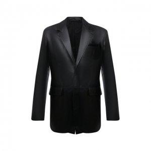 Кожаный пиджак Acne Studios. Цвет: чёрный