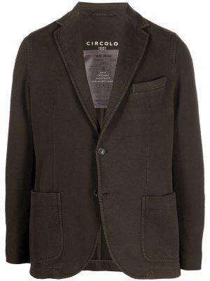 Однобортный пиджак Circolo 1901. Цвет: зеленый