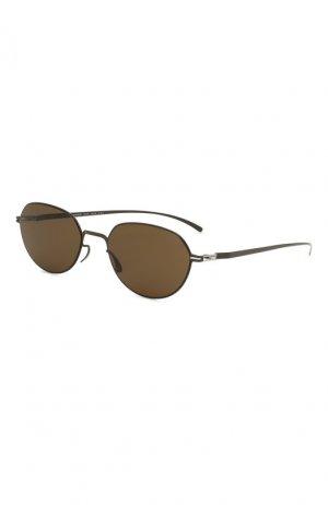 Солнцезащитные очки Maison Margiela. Цвет: черный
