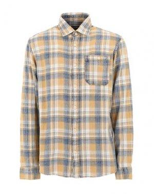 Джинсовая рубашка JACK & JONES. Цвет: охра
