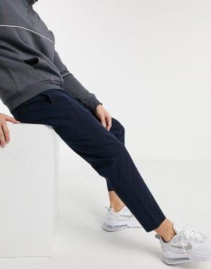 Темно-синие брюки -Темно-синий Abercrombie & Fitch