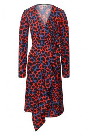 Платье с оборкой By Malene Birger. Цвет: разноцветный