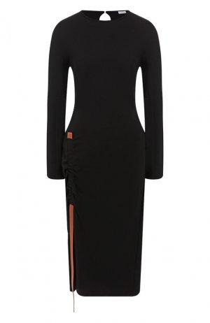 Платье-миди Loewe. Цвет: черный