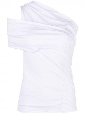 Драпированная футболка IRO. Цвет: белый