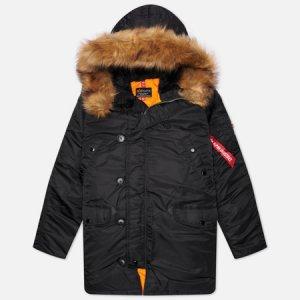 Мужская куртка парка N-3B Slim Fit Alpha Industries. Цвет: чёрный