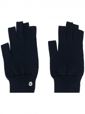 Перчатки-митенки Performa Rick Owens. Цвет: синий