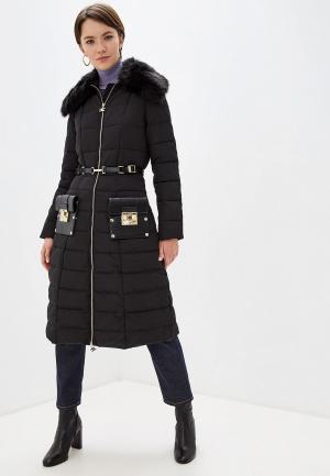 Куртка утепленная Elisabetta Franchi. Цвет: черный